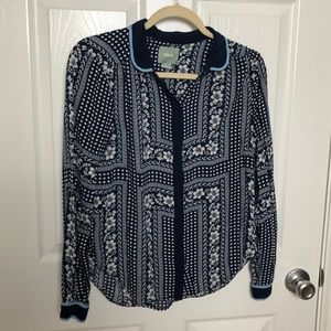 Maeve Patterned Button Down